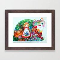 Tale Cat Framed Art Print