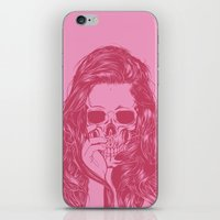 Skull Girl 1 iPhone & iPod Skin