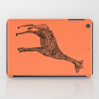 Designer Giraffe Coral iPad Case