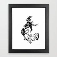 Fart Skull Flying Framed Art Print