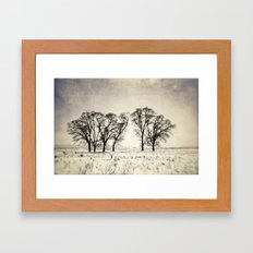 Dark Winter Days Framed Art Print