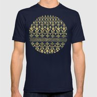 Norwegian Pattern – Go… Mens Fitted Tee Navy SMALL
