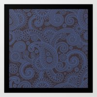 Paisley Platinum Art Print