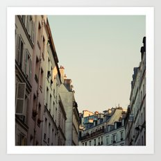 Pastel Paris Art Print