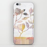 Flowers On Wood iPhone & iPod Skin