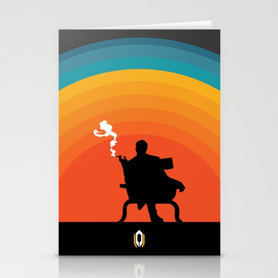 The illusive man Stationery Card