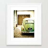 Mrs Olive Green Framed Art Print