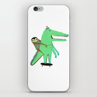 Crocodile and Sloth. iPhone & iPod Skin