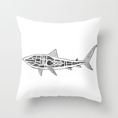 Shark Twist Throw Pillow