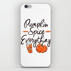 Pumpkin Spice Everything iPhone & iPod Skin