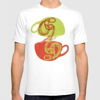Coffee And Tea Time Mens Fitted Tee White SMALL