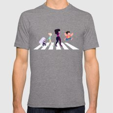 Steven Universe On Abbey… Mens Fitted Tee Tri-Grey SMALL