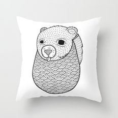 Mr. Rupel's Most Ingenuous Beard for Bears  Throw Pillow