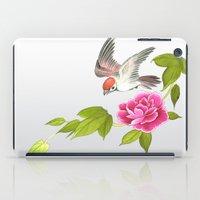 sparrow and peony iPad Case