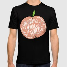 YOU'RE A PEACH SMALL Mens Fitted Tee Black