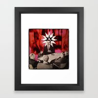 White Collar Witchery Framed Art Print
