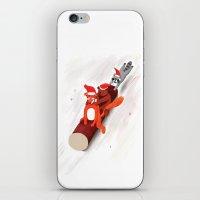 Christmas fox, bear and raccoon iPhone & iPod Skin