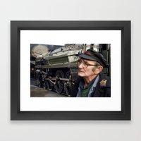 Old Steam Train Montage Framed Art Print