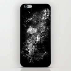 I'll wait for you black white version iPhone & iPod Skin