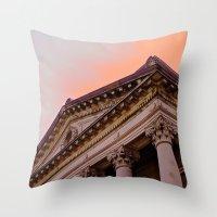 Courthouse Morning Throw Pillow