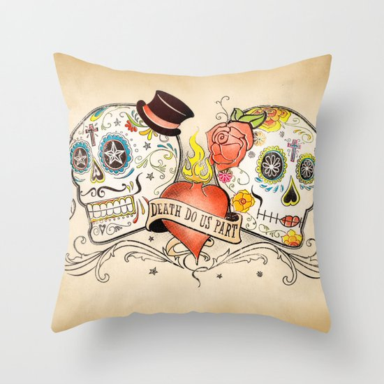 Death Do Us Part Throw Pillow