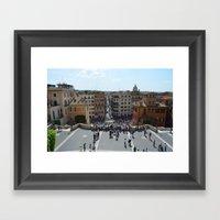 View From Spanish Steps,… Framed Art Print