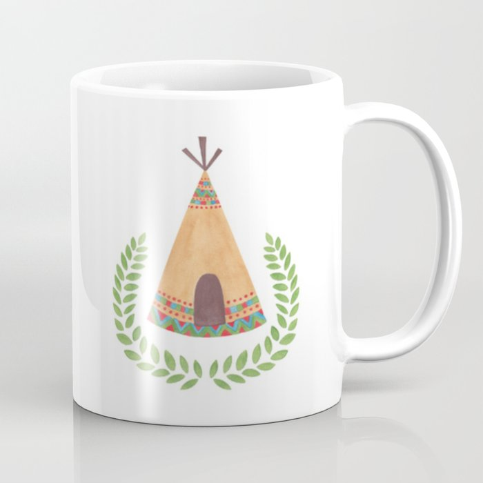 Tipi Watercolor Illustration on Mug by Haidi Shabrina