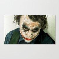 Joker, Heath Ledger Canvas Print