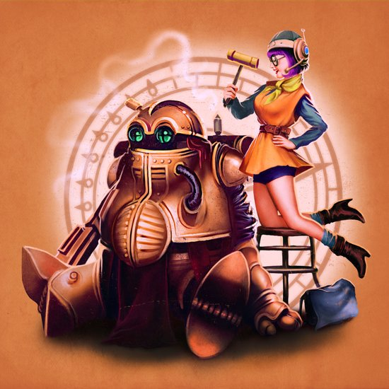 Lucca and Robo Art Print