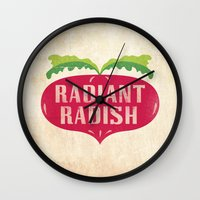 Radiant Radish Wall Clock