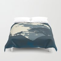 Monotoned Night Time... Duvet Cover
