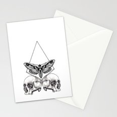 Skull moth Stationery Cards