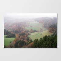 FOGGY SWITZERLAND Canvas Print