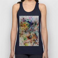 painting marbles Unisex Tank Top