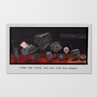 Unemployment Line. Canvas Print