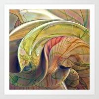 Twist of Color Art Print