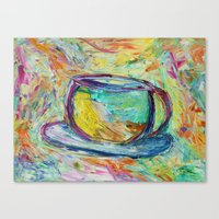 Coffee is my middle name! Canvas Print