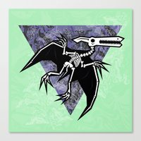 Pterodactyl Fossil Canvas Print