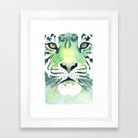 Green Tiger Framed Art Print