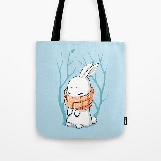 Winter Bunny Tote Bag