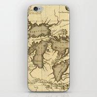 Great Lakes Map - 1737 iPhone & iPod Skin