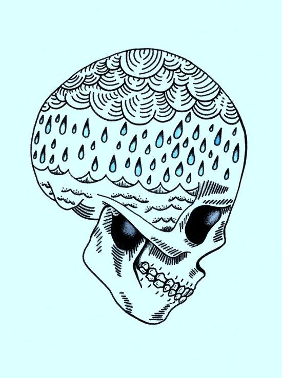 Skull Rain Art Print