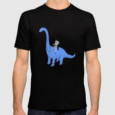 Dinosaur B MEDIUM Mens Fitted Tee Black