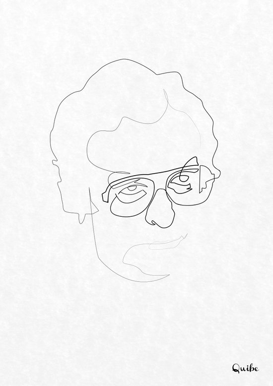 One line Michael Caine Canvas Print