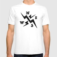 compass Mens Fitted Tee White SMALL