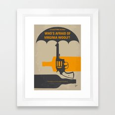 No426 My Whos Afraid of Virginia Woolf minimal movie poster Framed Art Print