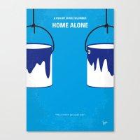 No427 My Home alone minimal movie poster Canvas Print