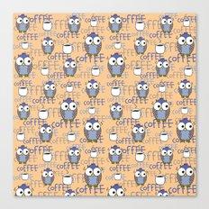 Owl orange pattern  Canvas Print
