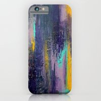iPhone & iPod Case featuring Purple Haze - Textured Abstract Painting by Liz Moran