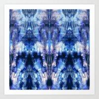 Blue Lagoon Tie-Dye Art Print
